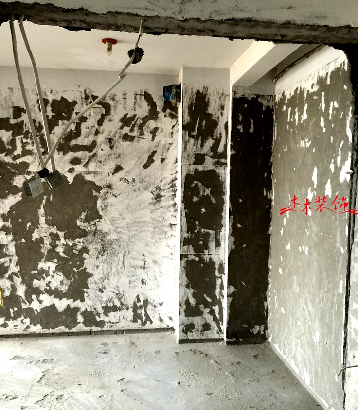 成都木木装修队墙面铲除施工现场
